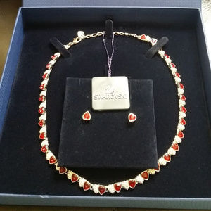 Authentic Swarovski necklace/earrings set